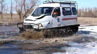 Под Волгоградом спасатели обкатывают технику перед паводком