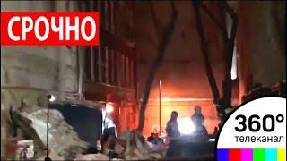 На Трубной улице в Москве обрушилось здание