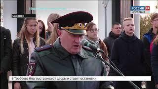 Полицейские Мордовии получили ключи от новых служебных автомобилей на гарнизонном разводе МВД