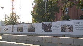Ограждение у храма Александра Невского украсили историческими фотографиями