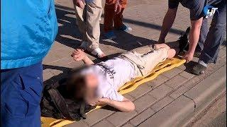 Ребенок попал под колеса внедорожника около здания арбитражного суда