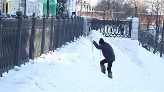 Тренировка 87-летнего альпиниста Зиновия Славинского