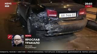 В Киеве произошло ДТП с участием автомобиля дипломатов РФ 01.04.18