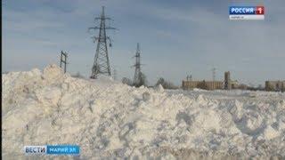 В Йошкар-Оле снежная свалка будет работать даже ночью - Вести Марий Эл