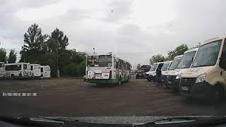 Момент небольшого ДТП с автобусом (28.06.2018)