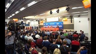 В Волгограде игроки сборных Англии и Туниса ответили на вопросы журналистов