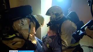 Пожарные и спасатели впервые в провели учения в самом высоком жилом здании Калининграда