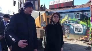 Мэр Омска инспектирует затопленные места