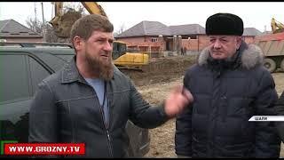 Рамзан Кадыров проинспектировал строительные площадки в городе Шали