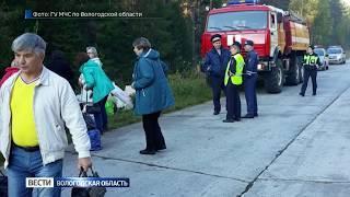 Микроавтобус с пассажирами перевернулся в Устюженском районе
