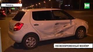 Проезд на красный сигнал светофора стал причиной крупной аварии на улиц Назарбаева | ТНВ