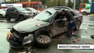 Пять пассажиров автобуса и водитель легковушки пострадали в результате аварии   ТНВ
