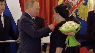 Владимир Путин вручил ордена ставропольской семье Несмияновых. Церемония награждения.