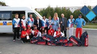 На соревнования с комфортом: когалымским параспортсменам подарили новый автобус