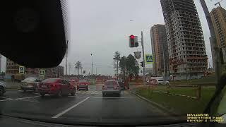 ДТП с пожарным расчётом попало на видео в Сургуте