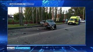 В Стерлитамаке водитель иномарки погиб, врезавшись в столб