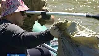 В Ростове очистили от мусора берега реки Темерник
