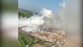 Пожарные продолжают ликвидировать очаги возгорания на мусорном полигоне в Башкирии