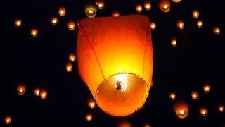 В Ханты-Мансийске в небо отпустили сотни воздушных фонариков