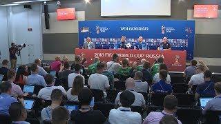 На «Волгоград Арене» состоялась предматчевая тренировка сборной Исландии
