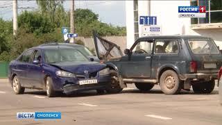 Массовое ДТП спровоцировало пробку в Промышленном районе Смоленска