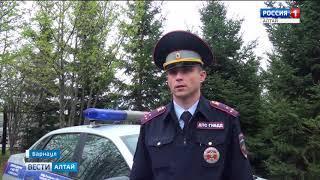 В Барнауле мужчина протаранил патрульный автомобиль, и пытался скрыться
