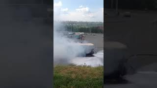 Салон маршрутки #26 выгорел сегодня в Томске