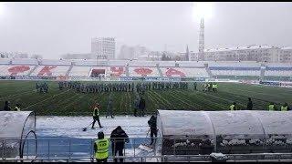 Перед началом матча «Уфа» - «Зенит» разыгралась страшная метель