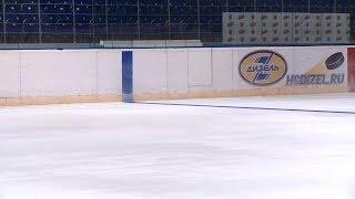 На «Дизель-Арене» в Пензе покрасили лед