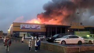 Масштабный пожар в Санкт-Петербурге