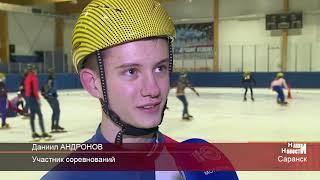Тренировка шорт-трекистов перед первенством России