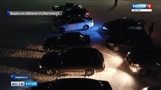 В Заринске построили валентинку из автомобилей