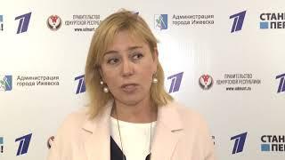 01 06 2018 Телеведущая Арина Шарапова приехала в Ижевск