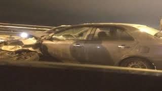 Виновник ДТП на Октябрьском мосту скрылся с места происшествия
