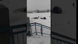 Иномарка провалилась под лёд Воронежского водохранилища