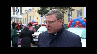 Александр Бурков станцевал кадриль на вручении омским учителям ключей от авто