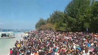 Эвакуация с острова Ломбок