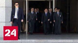 Ким Чен Ын впервые встретился с делегацией из Южной Кореи - Россия 24