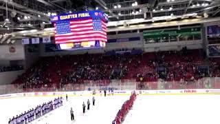 Во время юниорского чемпионата по хоккею в челябинске выключили гимн сша