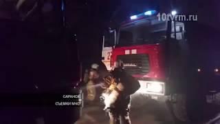 В Саранске пожарные спасали баню на Ушакова