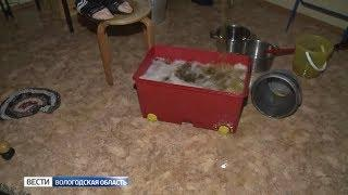 В Вологде на чердаке дома прорвало трубу