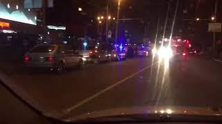 Буйные ставропольцы разбили стекло полицейской машины