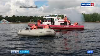 Инспекторы Гимс Карелии тренировались спасать рыбаков