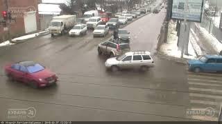 ДТП на ул. Красных Партизан и ул. Каляева 27.02.2018