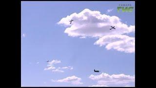 В честь 100-летия Вооруженных сил России,  на аэродроме Бобровка прошло авиационное шоу