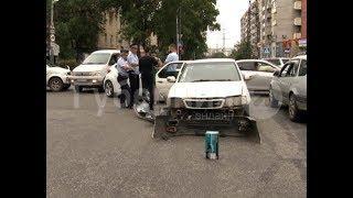 Запись камеры наблюдения помогла установить виновника ДТП в Хабаровске. Mestoprotv