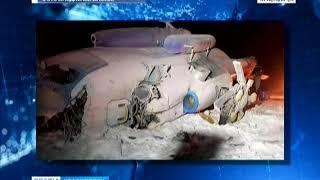 Вертолёт потерпел крушение во время посадки на мысе Арктический острова Комсомолец