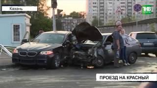 Один запоздалый выезд на перекресток стал причиной крупной аварии - ТНВ