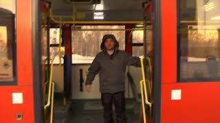 МП Захмелевший пассажир уснул в автобусе ул  Сурикова #4