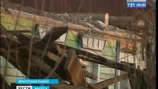 Обрушилась крыша многоквартирного дома в Смоленщине